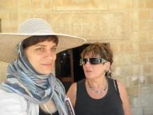 Barbara Pogačnik in Hava Pinhas Cohen v Nazaretu