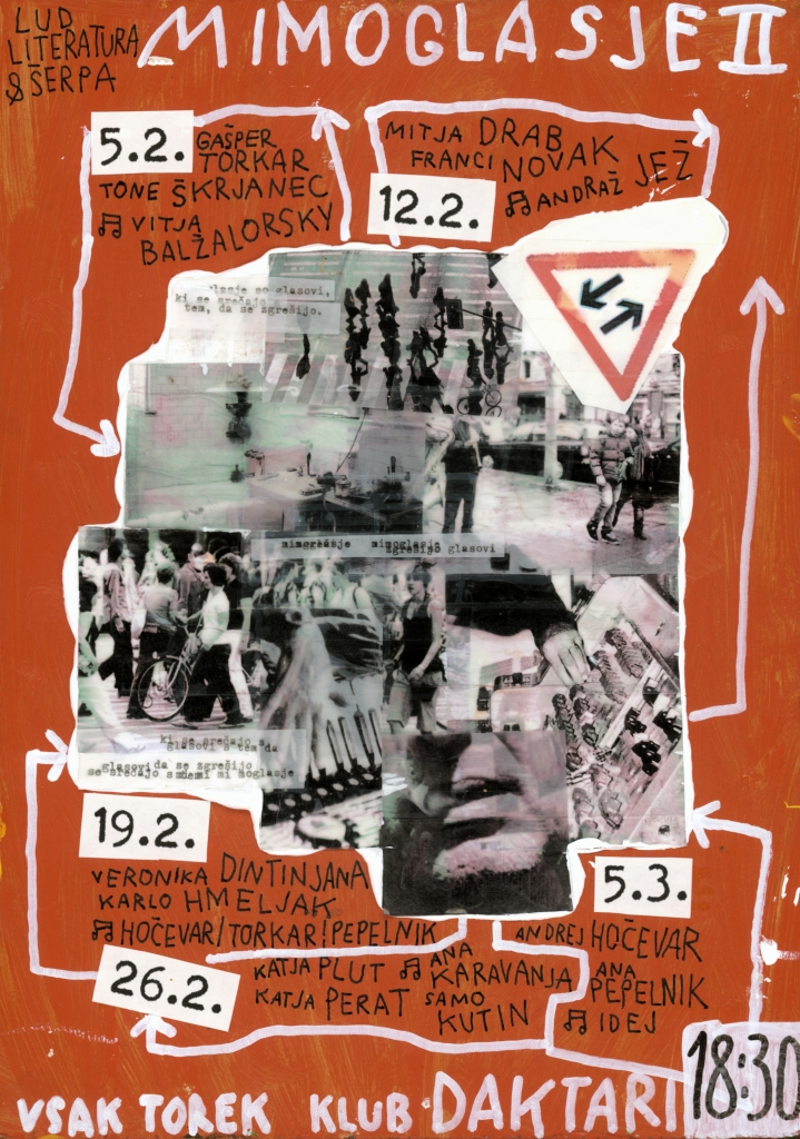 Mimoglasje, plakat (avtor: Matej Stupica)