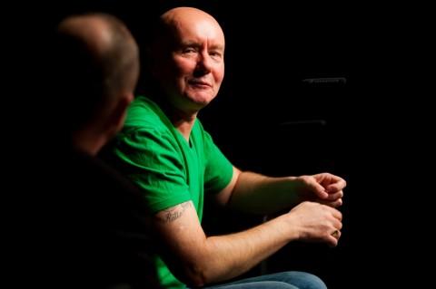 Matej Bogataj, Irvine Welsh (foto: Matej Pušnik)