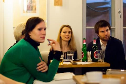 Prozni mnogoboj: žirija v sestavi Manca G. Renko, Katja Perat, Matjaž Juren - Zaza (foto: Matej Pušnik)