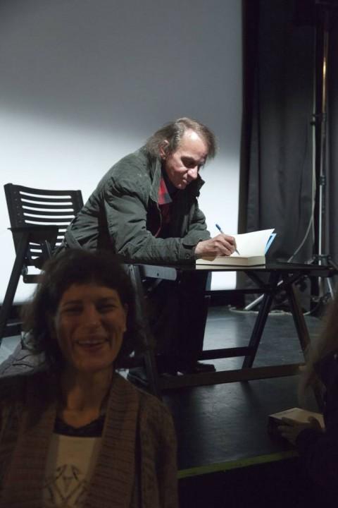 Barbara Pogačnik, Michel Houellebecq (foto: Borut Krajnc)