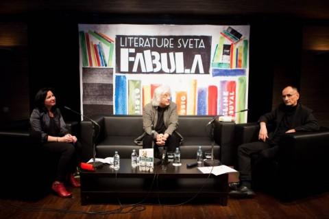 Jutka Rudaš, Péter Esterházy in Mladen Pavičić (foto: Matej Pušnik)