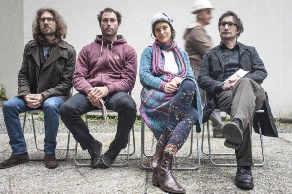 Karlo Hmeljak, Andrej Hočevar, Gregor Podlogar, Barbara Pogačnik (foto: Maj Pavček)