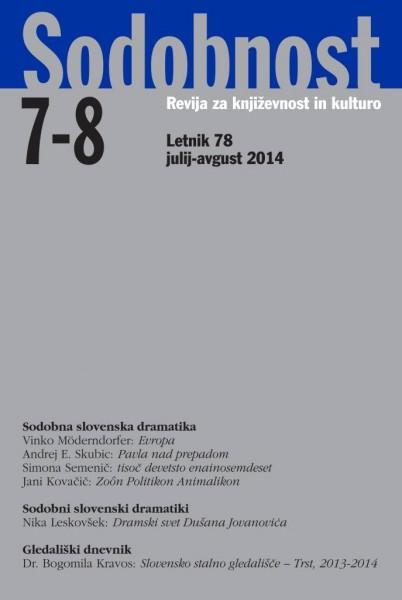 Sodobnost 7-8 (2014)
