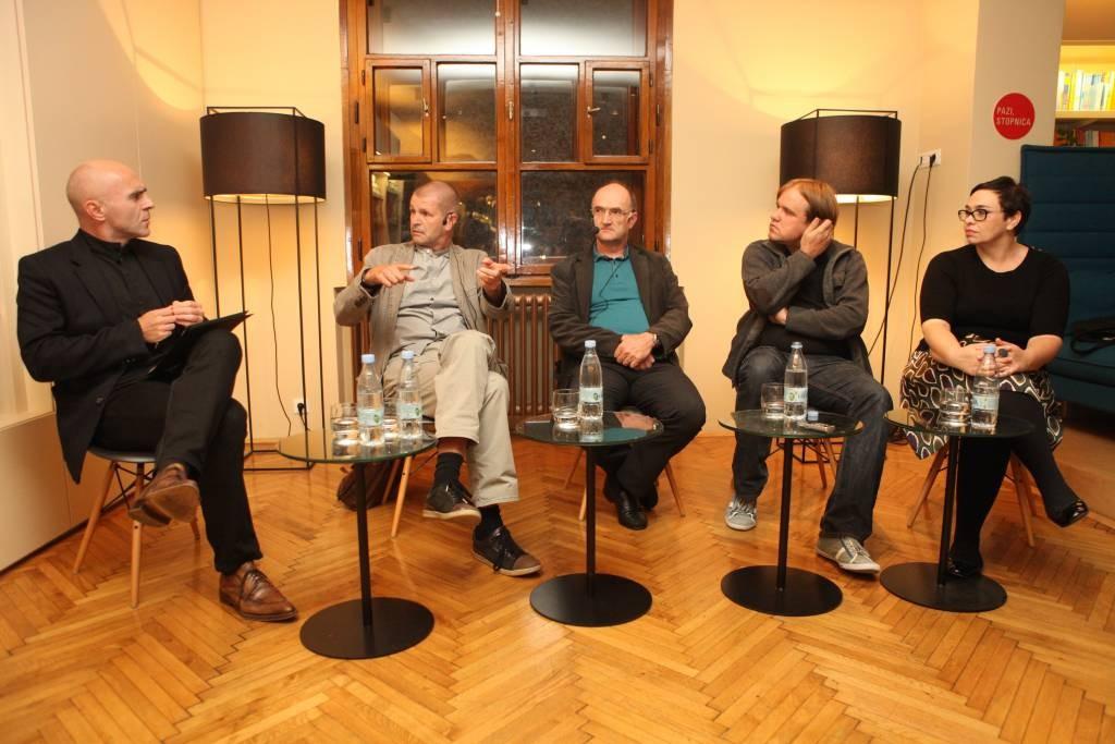 Janko Petrovec, Miha Kovač, Janez Miš, Mitja Ličen, Davorka Štefanec (foto: Tit Nešović)