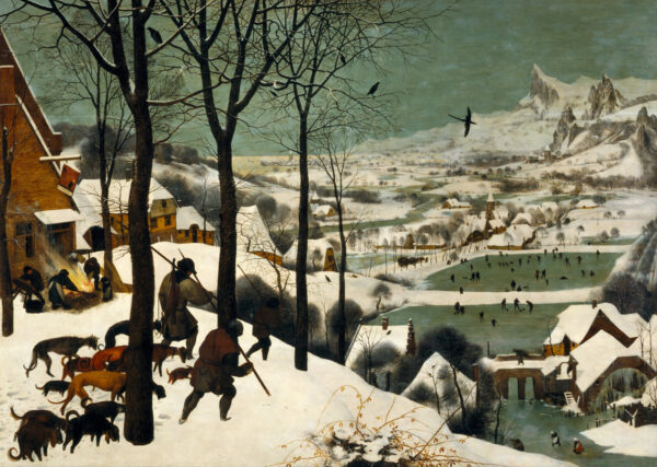 Pieter Bruegel starejši, Lovci v snegu