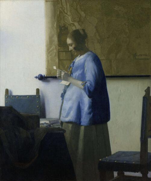 Jan Vermeer, Ženska v modrem, ki bere pismo