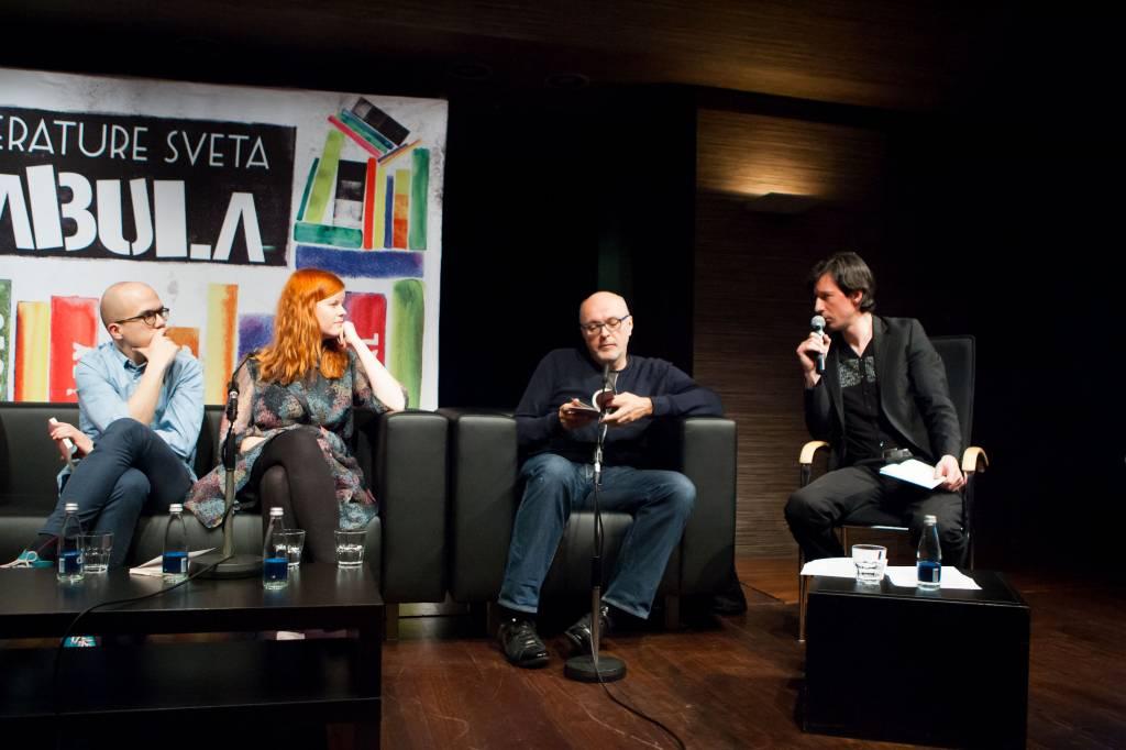 Nejc Gazvoda, Gabriela Babnik, Miha Mazzini, Boštjan Narat (foto: Matej Pušnik)