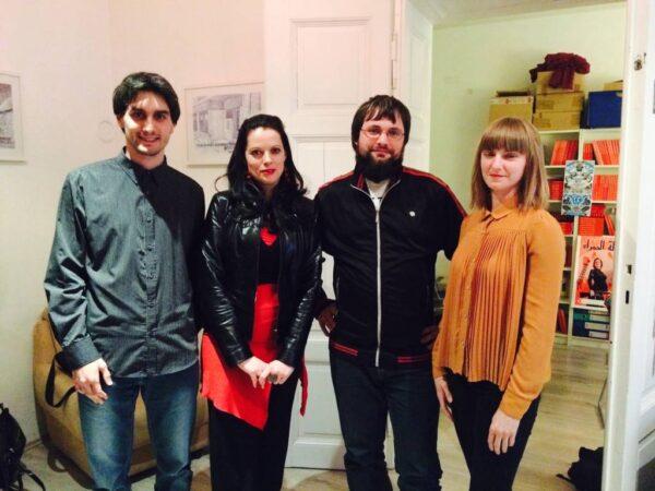 Rok Smrdelj, Tanja Petrič, Aljoša Harlamov in Ana Schnabl